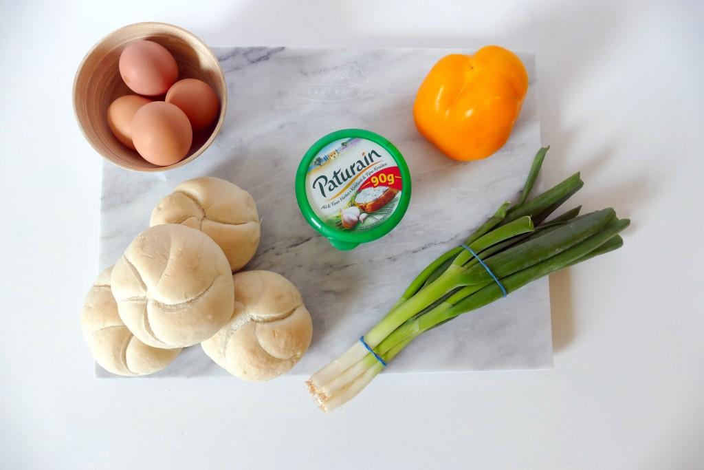 Gebakken ei in een broodje!