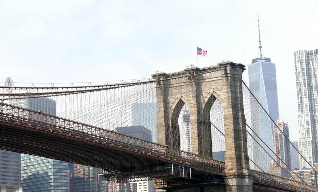 New York: Hudson River en Lower Manhatten