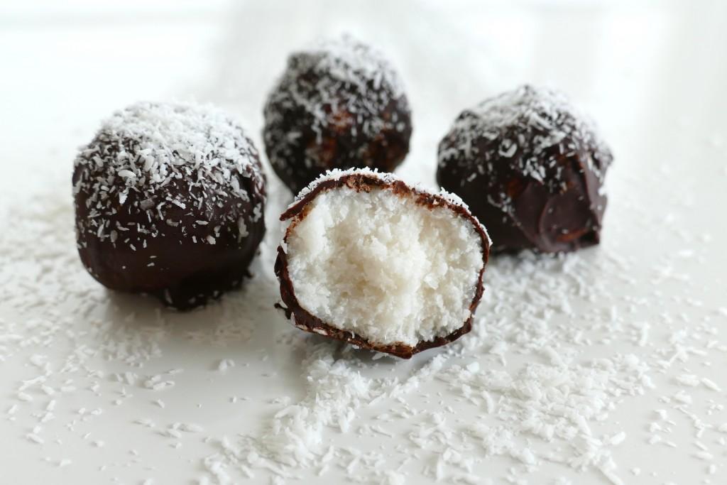 kokosballetjes met chocolade