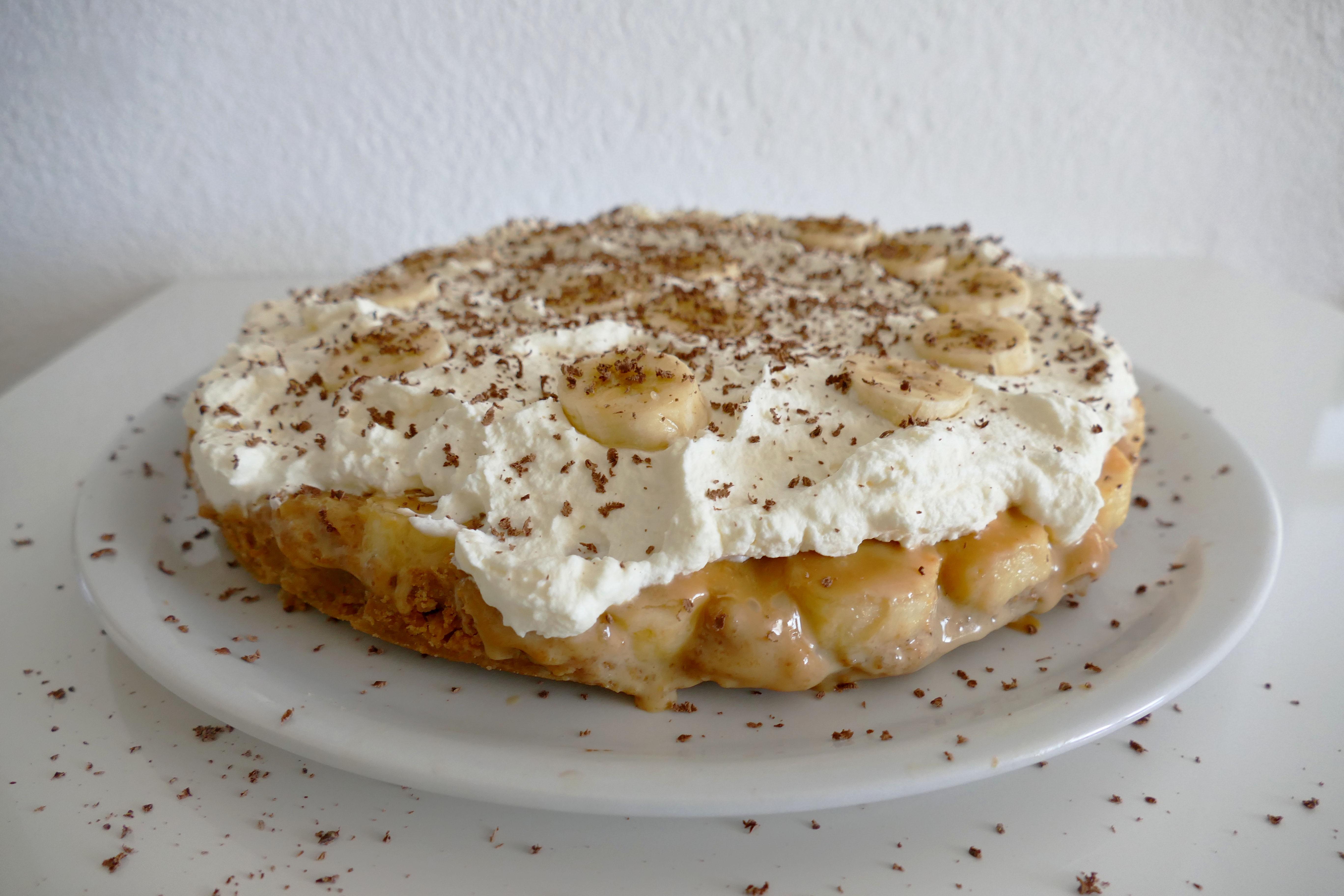 karamel bananen taart