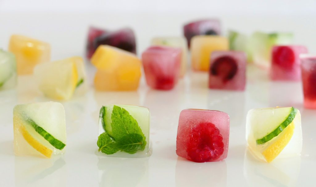 ijsblokjes fruit