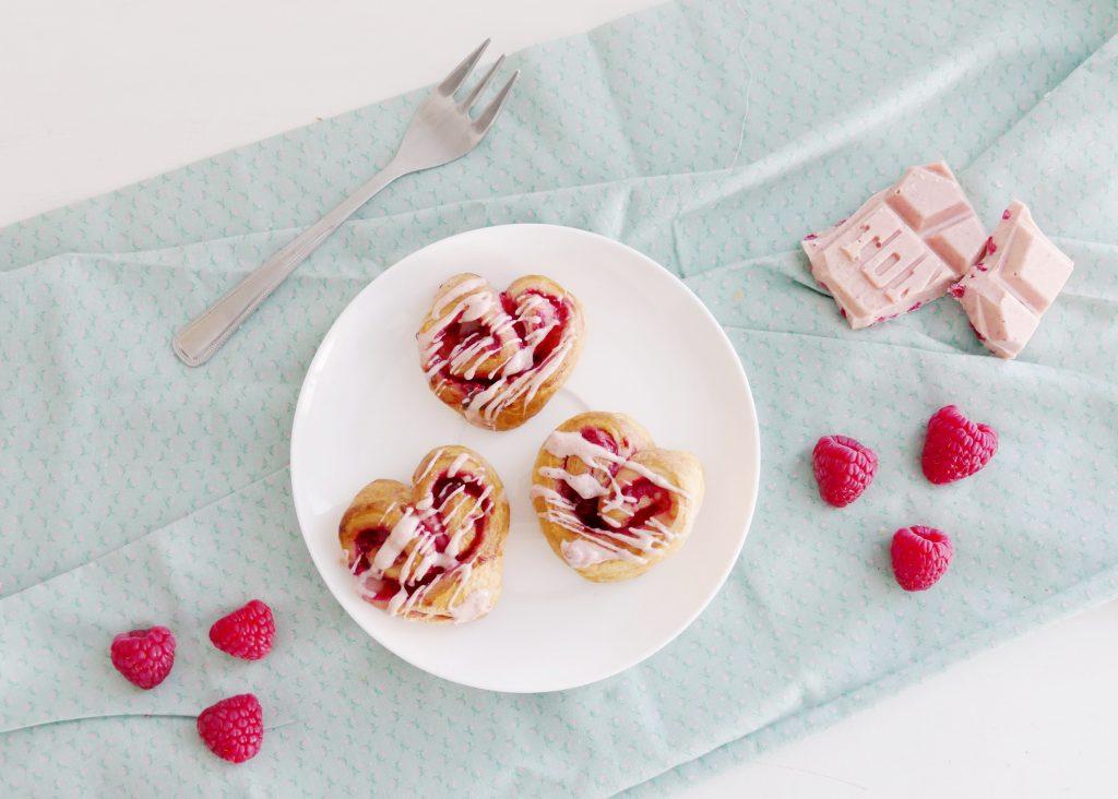 valentijnsdag croissant hartjes