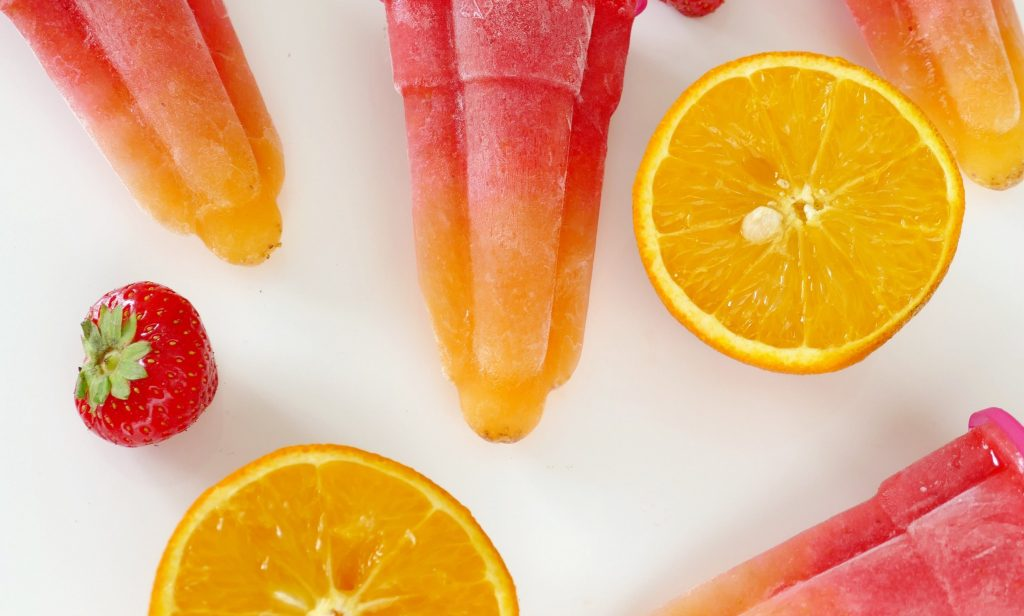 fruitijsjes met een swirl