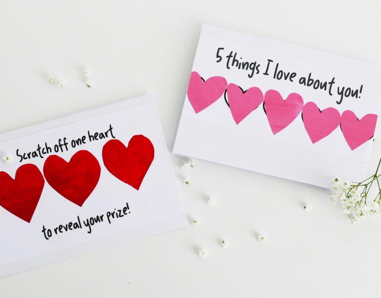 Valentijnsdag kraskaarten