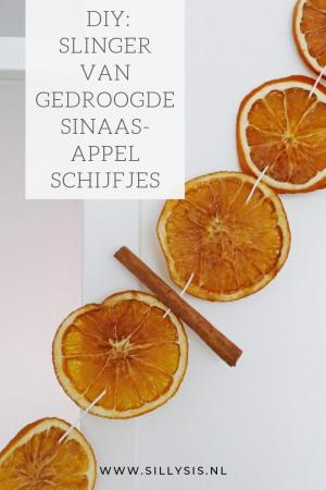 diy slinger van gedroogde sinaasappelschijfjes