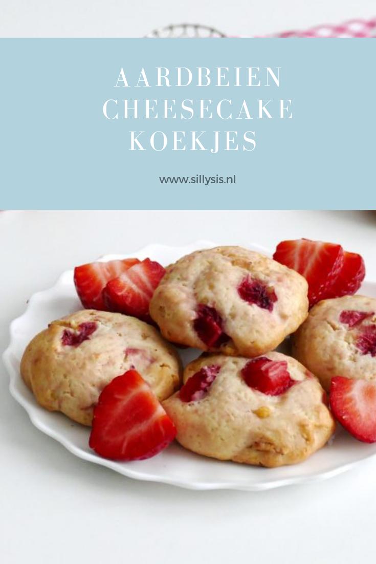aardbeien cheesecake koekjes