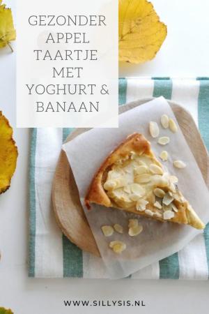 Gezonder appeltaartje met yoghurt en banaan