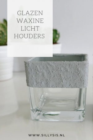 DIY: Waxinelichthouders met een grove steenlook met verf van de action!