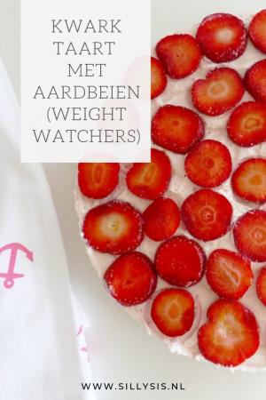 Kwarktaart met aardbeien van weight watchers