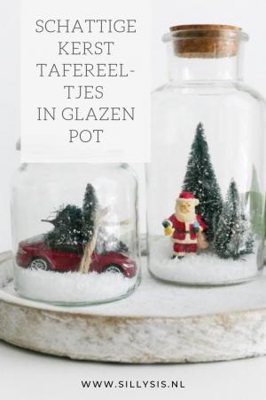 DIY: Kerst tafereeltjes in glazen pot