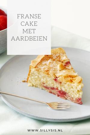 Franse cake met aardbeien