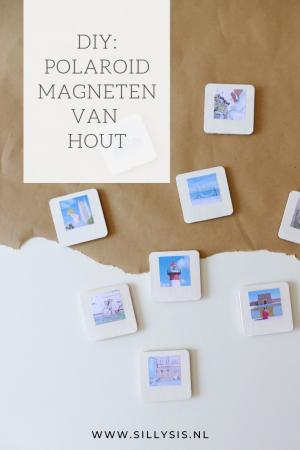 DIY Polaroid magneten van hout