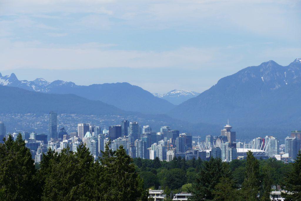 Queen Elizabeth Park. Skyline Vancouver
