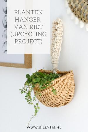 Plantenhanger van riet | Upcycling project. Met vondst uit de kringloopwinkel.