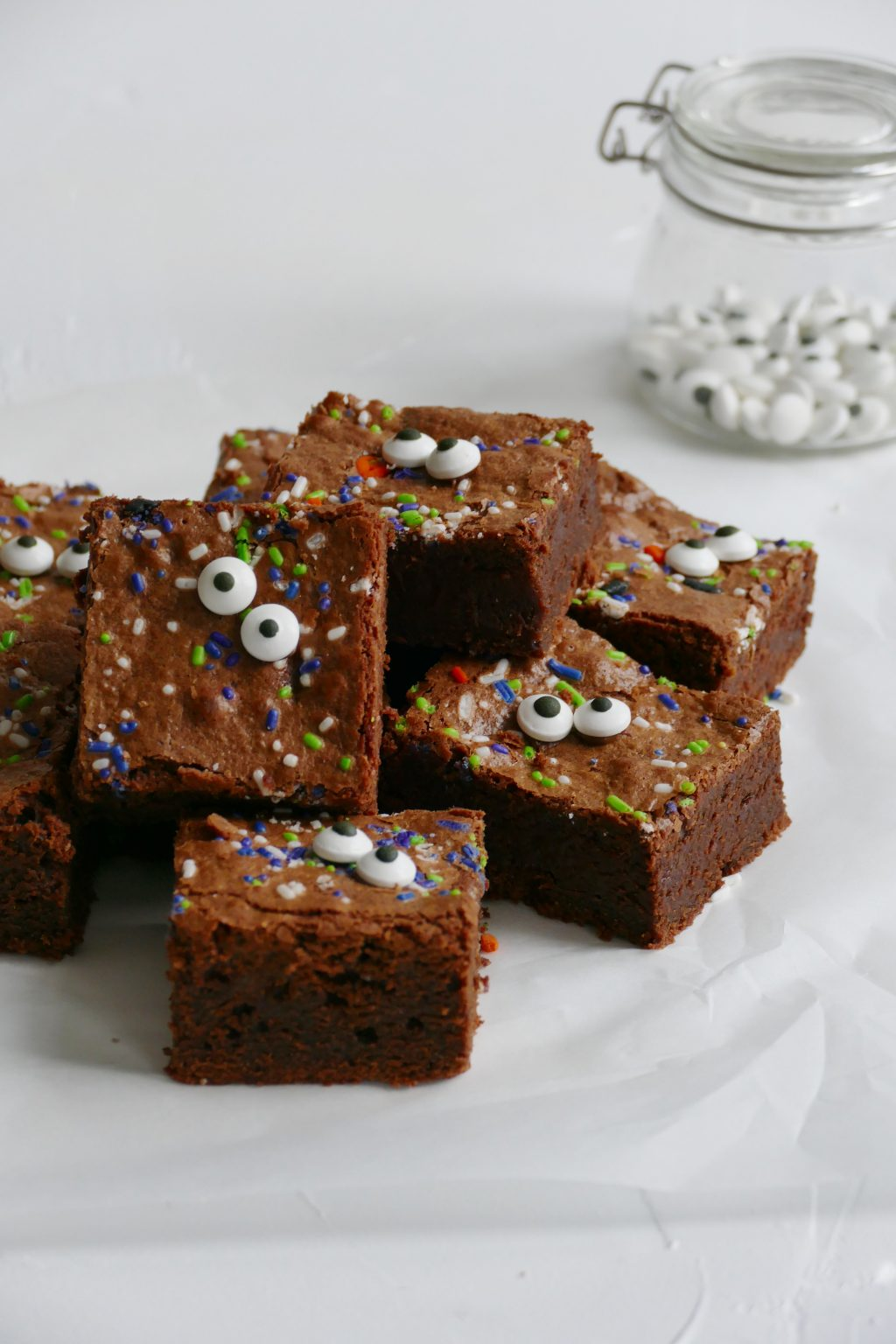 Halloween monster brownies