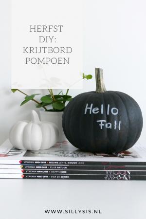 Herfst DIY: krijtbord pompoen
