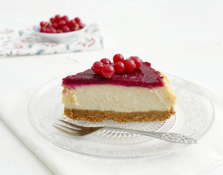 vanille cheesecake met cranberry