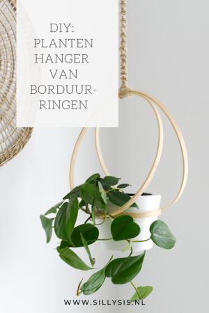 DIY: Plantenhanger van borduurringen