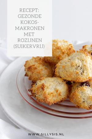 Recept: Gezonde kokosmakronen met rozijnen