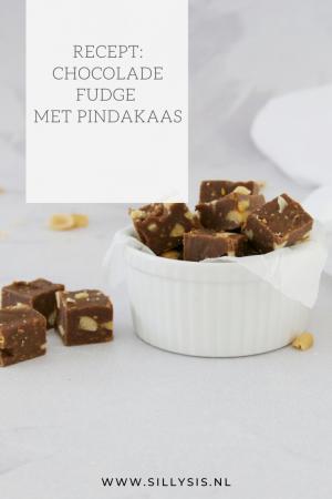Recept: Chocolade fudge met pindakaas. Lekker en makkelijk.