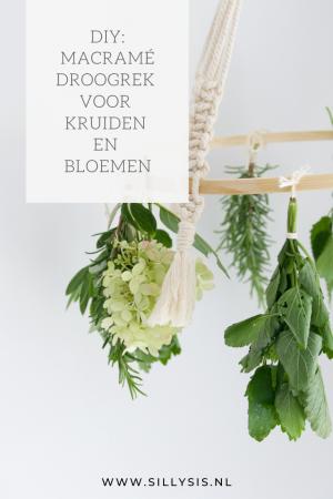 DIY: Macramé droogrek voor kruiden en bloemen
