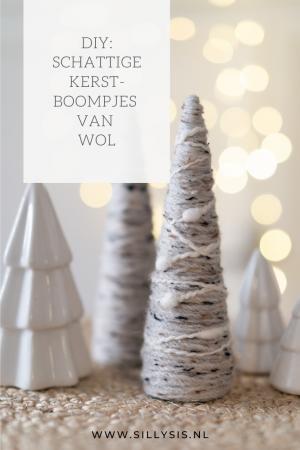 DIY: Schattige kerstboompjes van wol