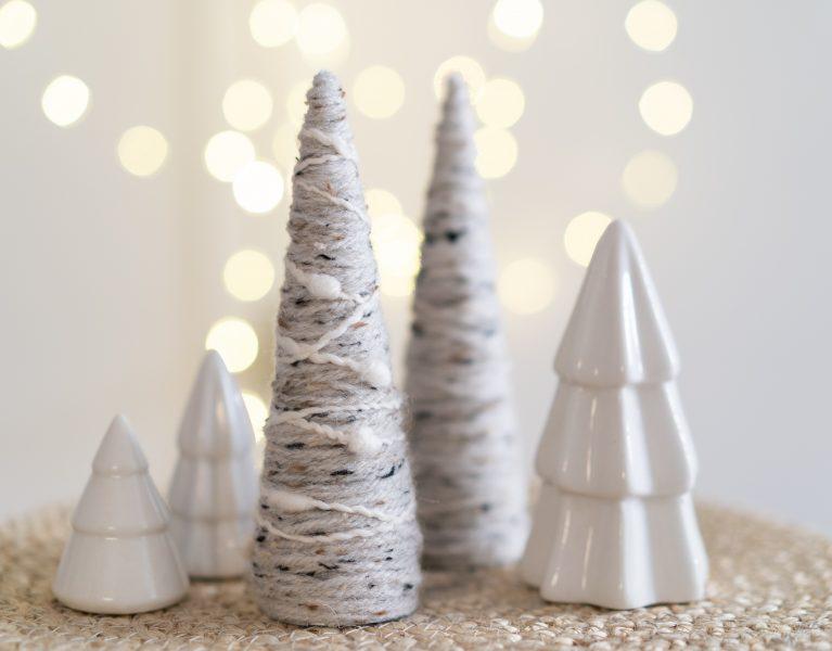 Kerstboompjes van wol