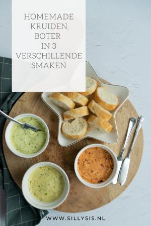 Homemade kruidenboter in 3 verschillende smaken