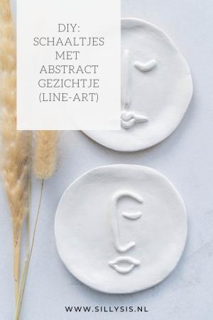 DIY: Minimalistische schaaltjes met abstract gezichtje (line-art)