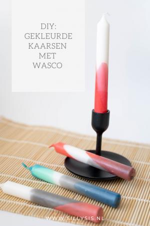 DIY: Gekleurde kaarsen met wasco