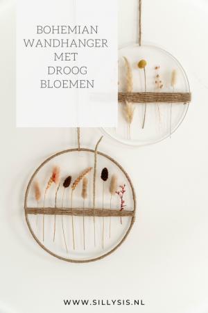 DIY: Bohemian wandhanger met droogbloemen