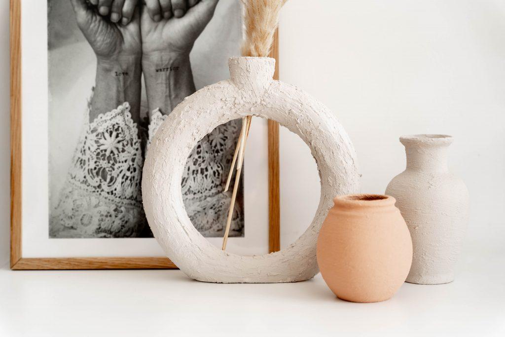 """DIY: Cirkelvormige vaas van """"aardewerk"""""""