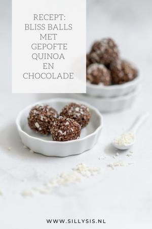 Recept: Bliss Balls met gepofte quinoa, chocolade en een vleugje kokos