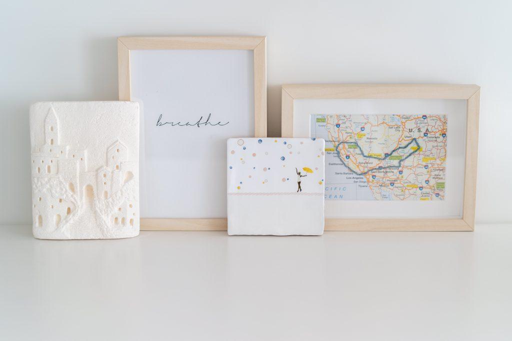 DIY's in mijn interieur: Borduren op een landkaart