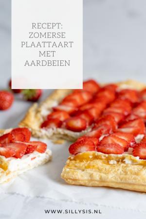 Recept: Zomerse plaattaart met aardbeien - zoet en fris